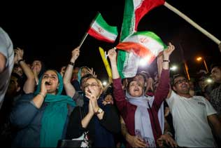 Iran is now celebrating Sanction Relief